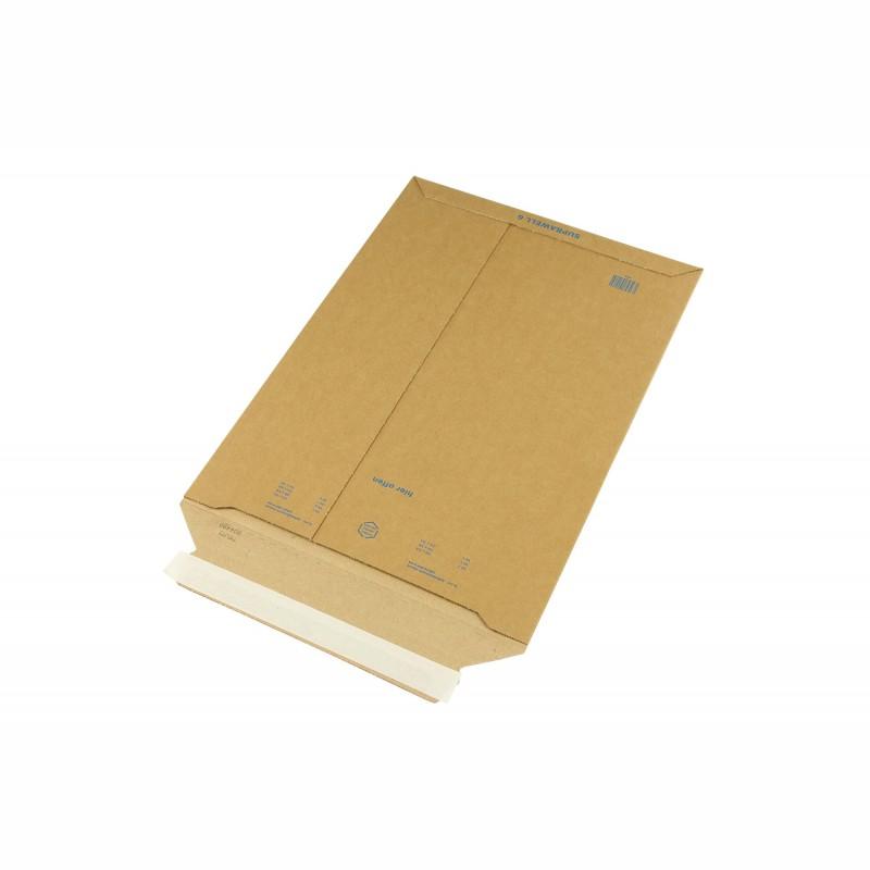 Wellpapp-Versandtasche 286x407mm, C4. braun, SK-Verschluss und. Aufreißhilfe