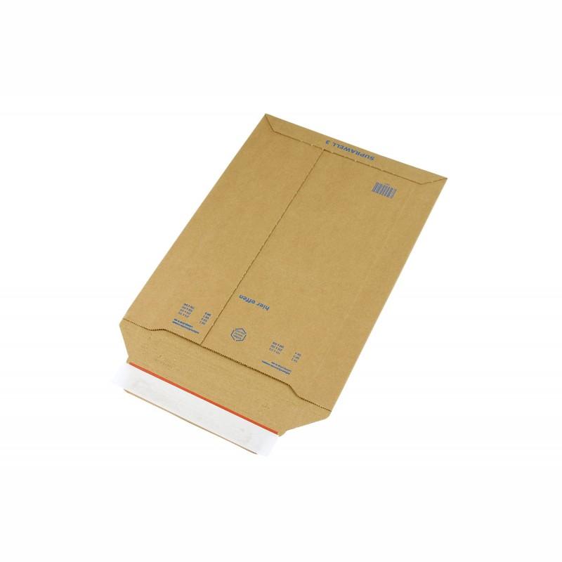 Wellpapp-Versandtasche 234x330mm, A4. braun, SK-Verschluss und. Aufreißhilfe