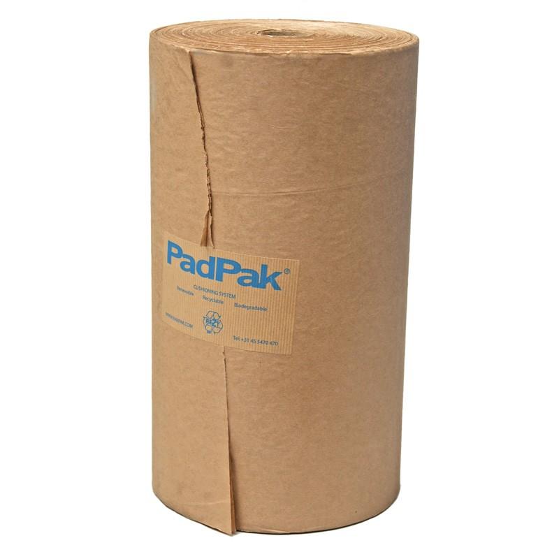 PadPak CC-Papier (Compact) 2-lagiges Papier 50/50gr./m². 215 lfm./Rolle. 38cm Rollenbreite