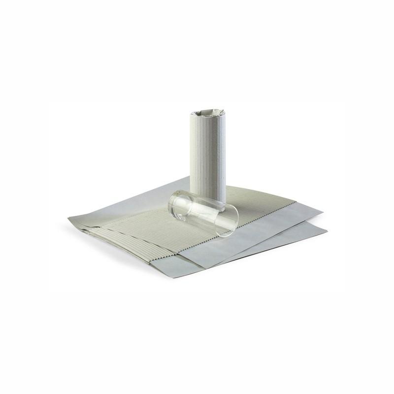 Gläserpapier 190x390mm (Kaschierung-Well). 330x390mm (Bogen). 1000 St. im Karton