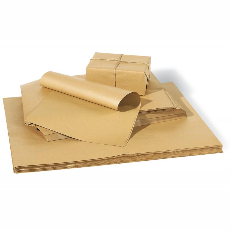Packpapier 75x100cm, 80g/qm, braun. Natronmischpapier, Bogenware. ca. 420 Bogen je Packung