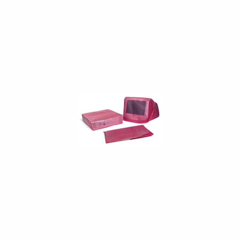 EDV-Hüllen für Monitor 800x1200mm, 80µ. rosa, antistatisch, auf Rolle. 100 Stk. pro Rolle