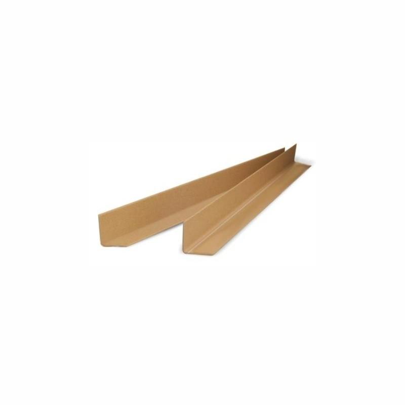 Vollpapp-Kantenschutzleisten 100x50x50mm, 2mm Stärke. braun, Winkel vorgefertigt.