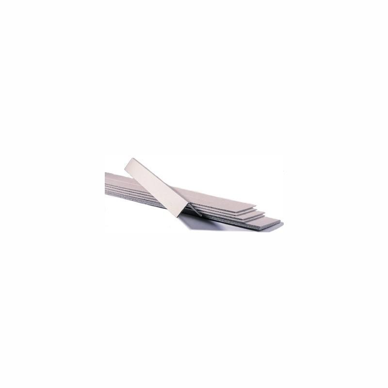 Vollpapp-Kantenschutzleisten 700x50x50mm, 3mm Stärke. grau, vorgerillt zum Knicken.
