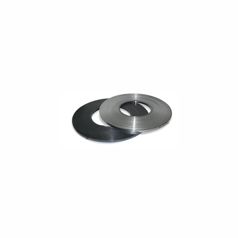 Stahlband gebläut 19mm breitx0,5mm. Scheibenwicklung, gewachst. arrondierte Kanten
