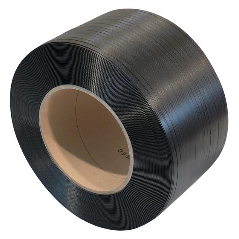 SIGNODE-Dylastic-Band 9,2x0,45mmx3000lfm., 610 W. schwarz, Kerndurchm. 200mm.