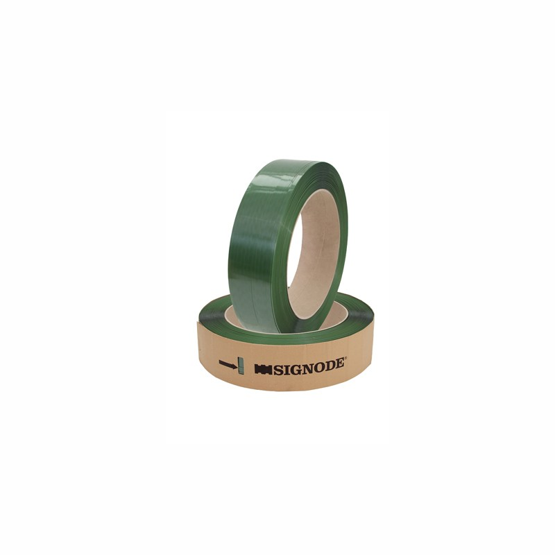 SIGNODE-TENAX-Band 2040 15,6x0,9mmx1300lfm. grün, glatt, 406mm Kern. Reißfestigkeit 642kp