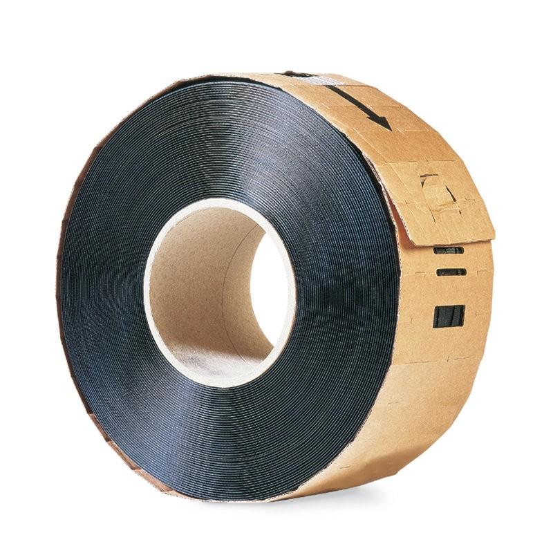 PP-Maschinenumreifungsband 12x0,55mmx2500lfm. schwarz, Kerndurchm. 280mm. Reißfestigkeit 134kp