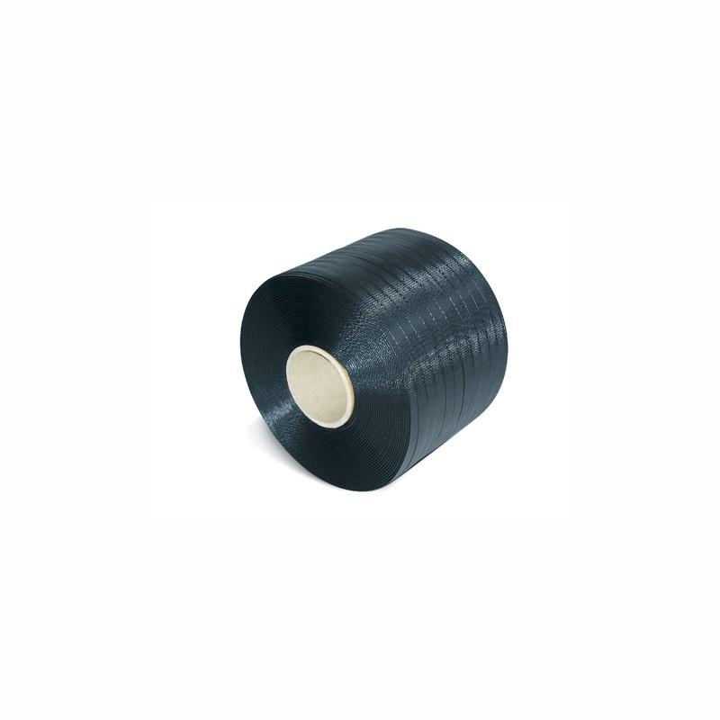 PP-Umreifungsband Kleinrolle 12,7x0,65mmx600lfm. schwarz, Kerndurchm. 65mm. Reißfestigkeit 175kp