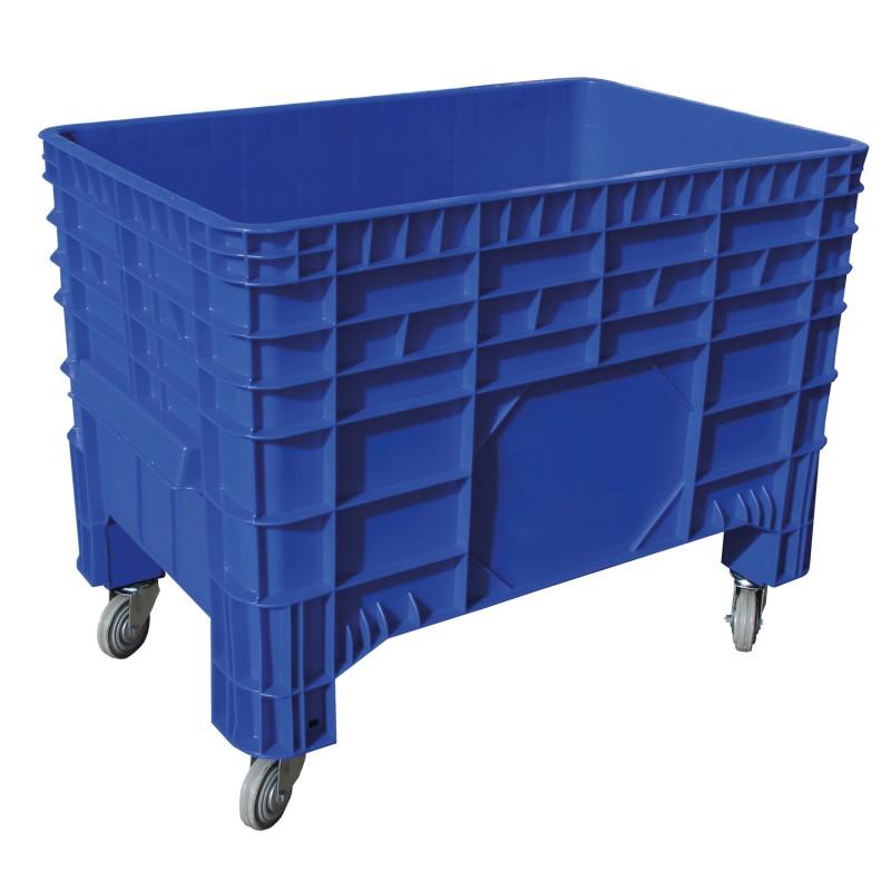 PC-Transportbehälter, NEU 1040x640x780mm, aus HDPE. DUNKELBLAU. mit Rollen