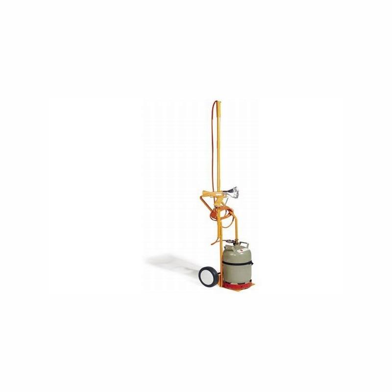 Gasflaschenwagen mit drehbarer Halterung für. Schrumpfpistole. Gewicht 12kg