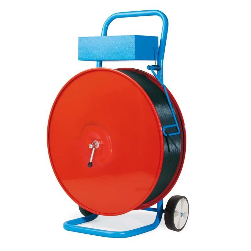Abrollwagen Basic für PP/PET-Band Großrollen. fahrbar, für Kerndruchmesser. 200/280/406mm