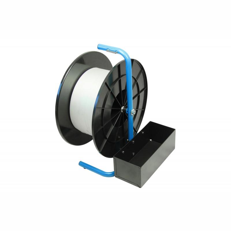 Tragbarer Abroller für Composite-Polyesterband. für Rollen mit Kerndurchmesser. 200mm