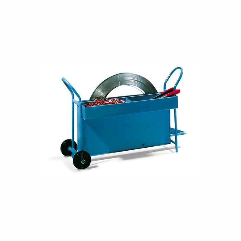 Abrollwagen für Stahlband. 13-20mm Scheibenwicklung. fahrbar
