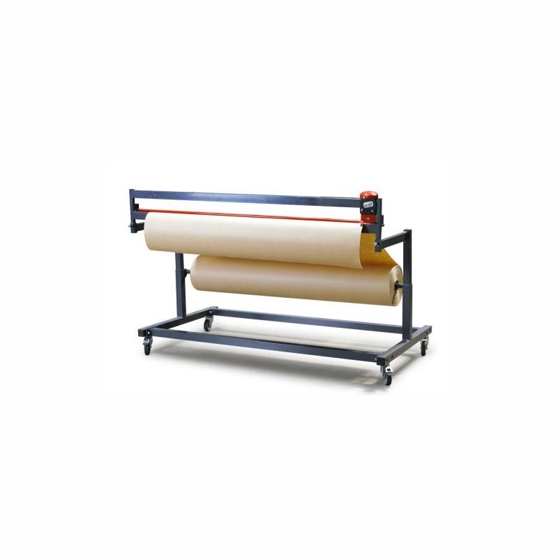 Untertisch-Schneidständer für Packpapier und Folien. Schnittbreite bis 1500mm.