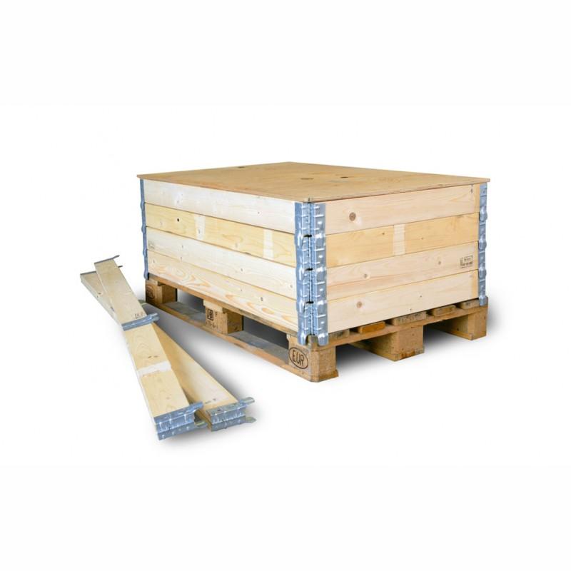 Holzaufsetzrahmen 800x600x200mm. Aufsetzrahmen mit IPPC-Stempel. für 1/2 Europalette