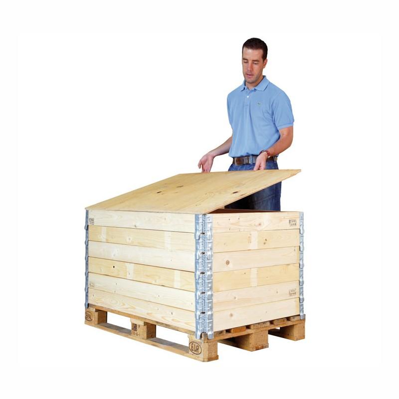 Deckel für Holzaufsetzrahmen 800x600x8mm, 1/2 Euromaß. mit IPPC-Stempel.