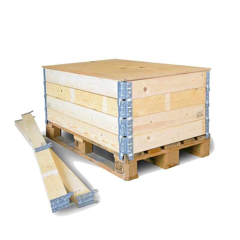 Holzaufsetzrahmen 1200x1000x200mm. Aufsetzrahmen f.Industrie-Pal.. mit IPPC-Stempel