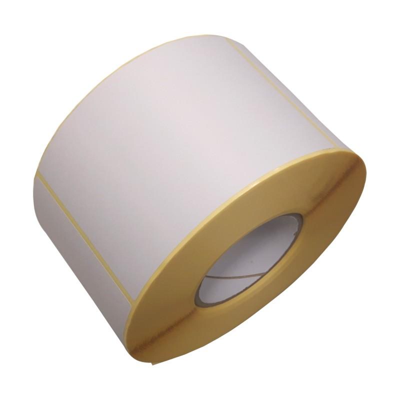 Haftetiketten aus Papier 102x152mm (BxH), blanko. weiß, haftend, 76mm Kern. 1St=1Rolle mit 950 Etiketten