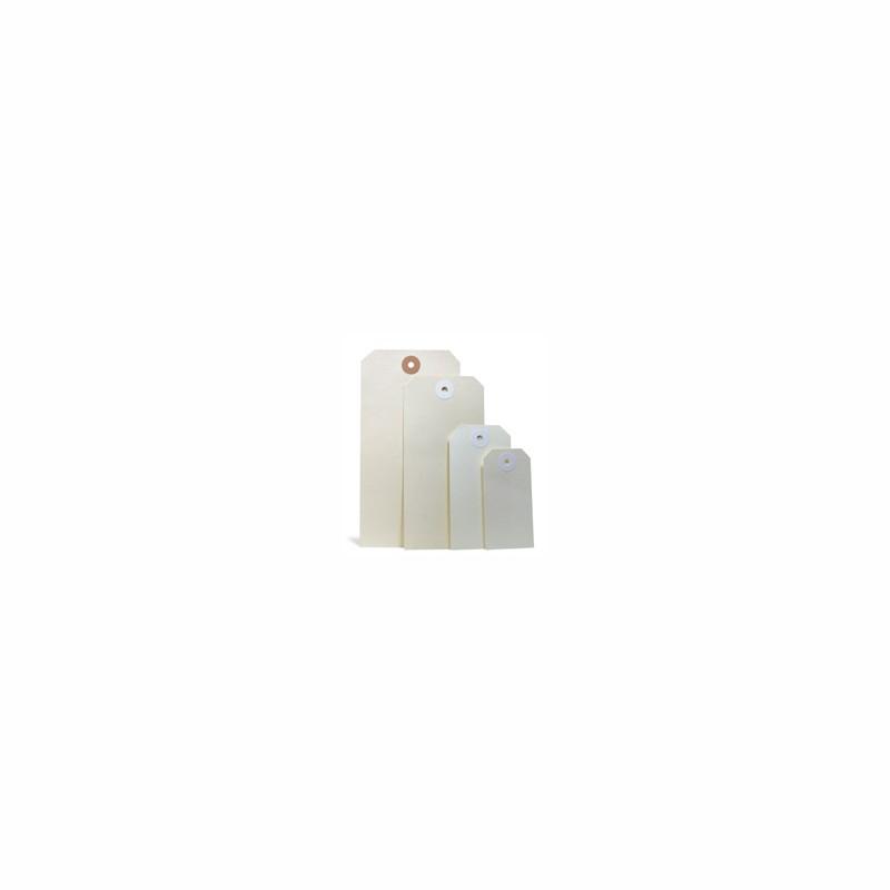 Anhänge-Etiketten 40x80mm, Qualität 190g/qm. Manilakarton, chamois. mit verstärkter Kartonöse