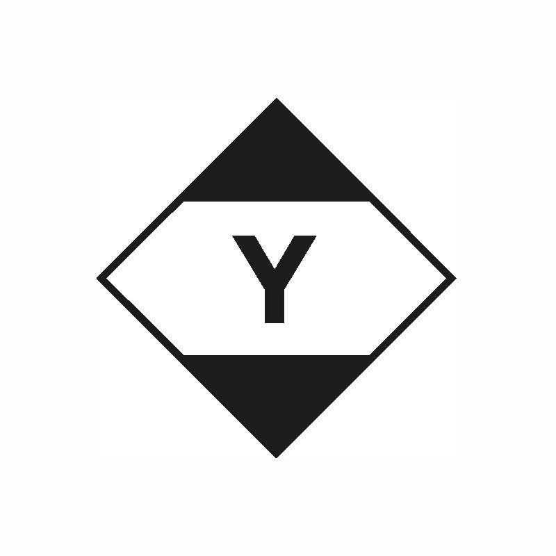 Gefahrgut-Etiketten 100x100mm, aus Papier. mit Aufdruck/Symbol. LQY (Luftfracht)