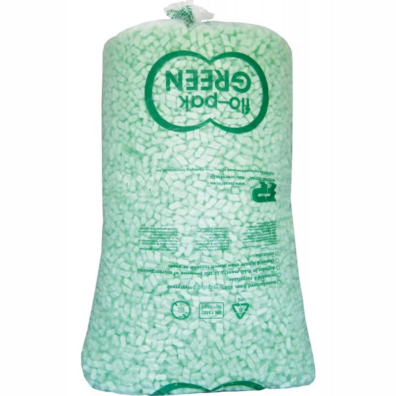 Füllmaterial flo-pak Green 500l/Sack, geschlossene Acht. antistatisch.