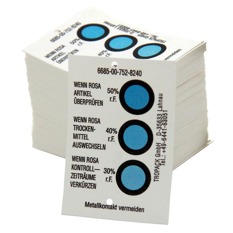 Feuchtigkeitsindikator Anzeigebereich 30-40-50%. Typ B / Klasse 1. selbstklebend