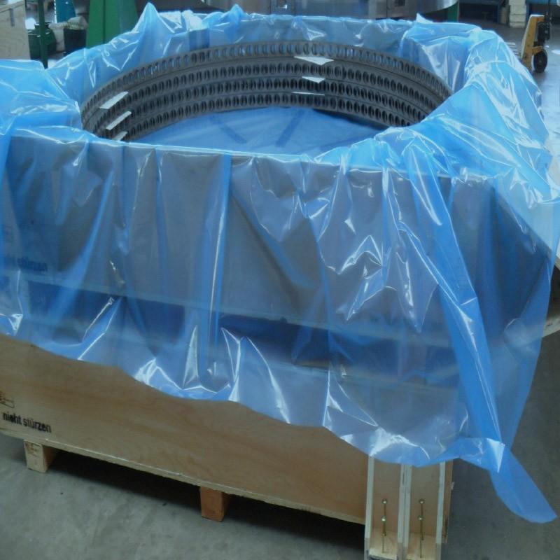 VCI-Seitenfaltenhaube 1.230+825x1.400mm, 100µ. blau.