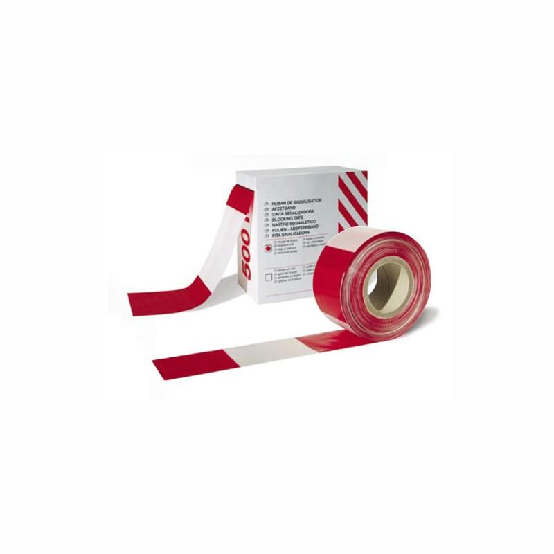 Absperrband rot/weiß 75mmx500 lfm. im Spendekarton.