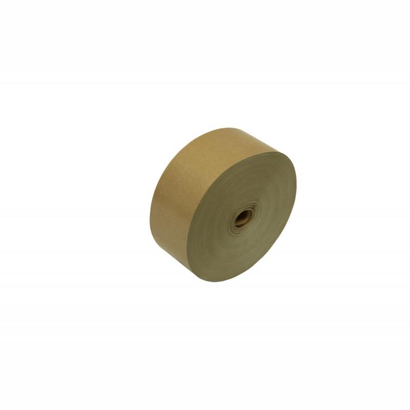 Nassklebeband 60mm breitx200lfm, 70g/qm. braun, unverstärkt. Pflanzenleimkleber