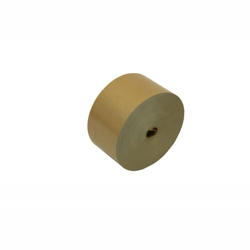 Nassklebeband 80mm breitx200lfm, 70g/qm. braun, unverstärkt. Pflanzenleimkleber