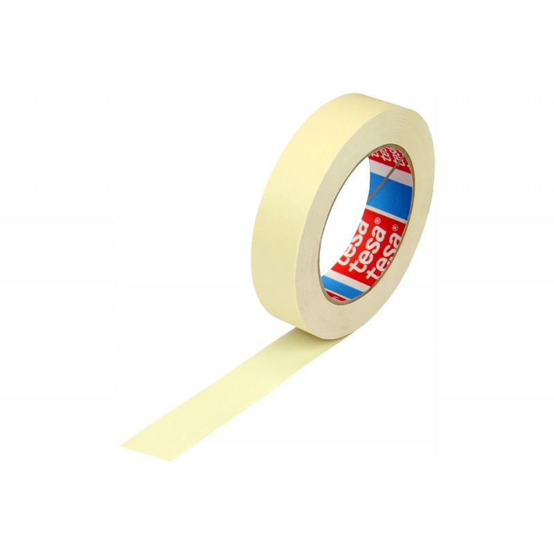 tesa Flachkrepp 4317 25mm breitx50lfm, 140µ. cremeweiß, flachkrepp. Naturkautschukkleber