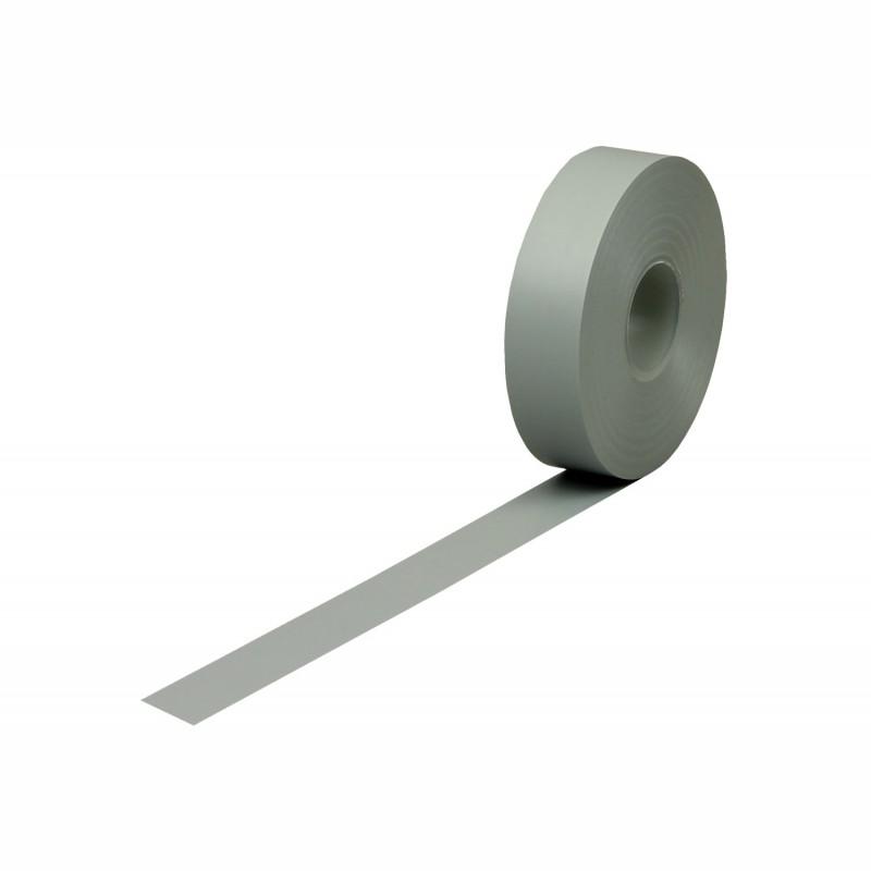 Isolierband Weich-PVC 19mm breitx33lfm, 120µ. grau, Kunststoffkern. Naturkautschukkleber