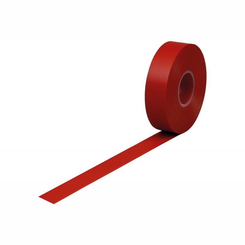 Isolierband Weich-PVC 19mm breitx33lfm., 120µ. rot, Kunststoffkern. Naturkautschukkleber