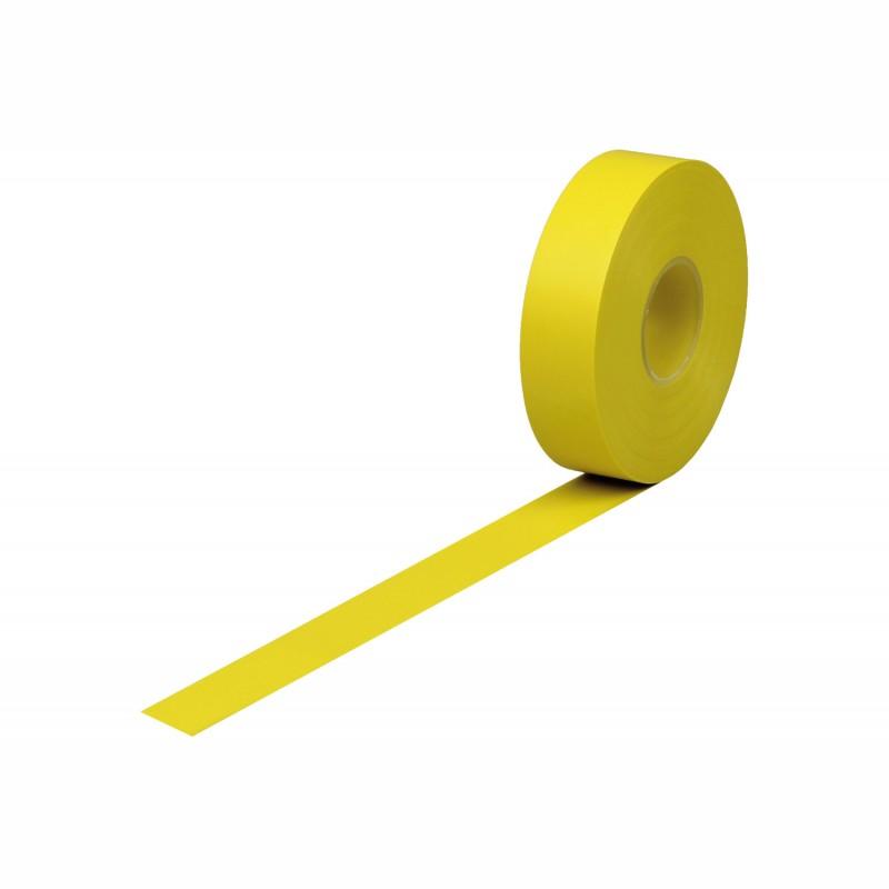 Isolierband Weich-PVC 19mm breitx33lfm., 120µ. gelb, Kunststoffkern. Naturkautschukkleber