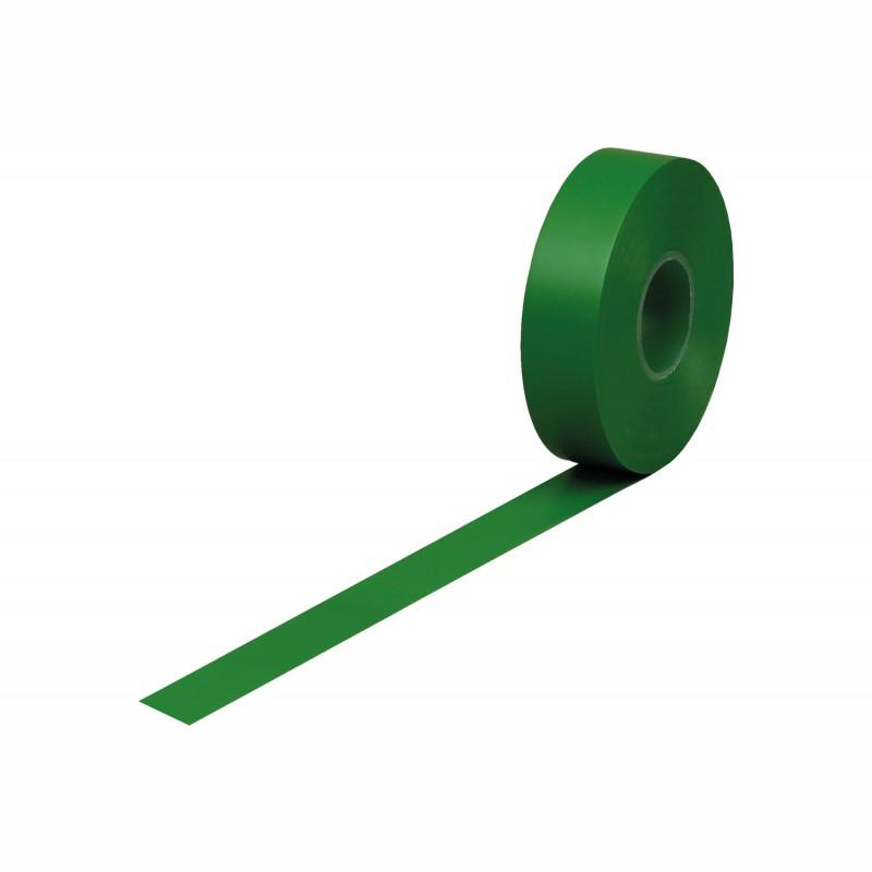 Isolierband Weich-PVC 19mm breitx33lfm., 120µ. grün, Kunststoffkern. Naturkautschukkleber