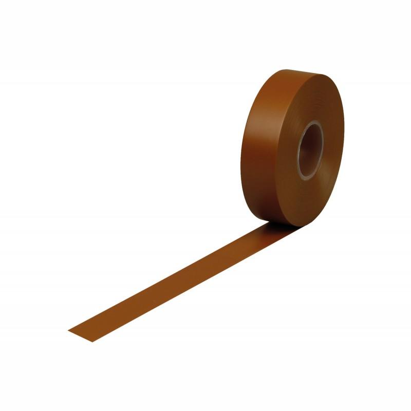Isolierband Weich-PVC 19mm breitx33 lfm., 120µ. braun, Kunststoffkern. Naturkautschukkleber