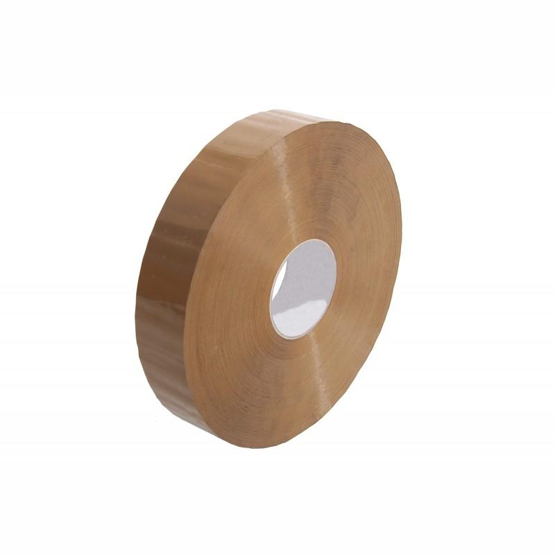 PP-Packband, Großrolle 50mm breitx990lfm, 45µ. braun. Hotmeltkleber
