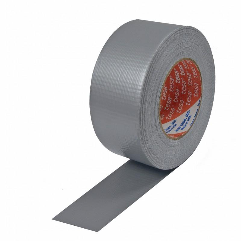 tesa Gewebeband 4662 48mm breitx50lfm, 230µ. silber / matt, Polyethylen. Naturkautschukkleber