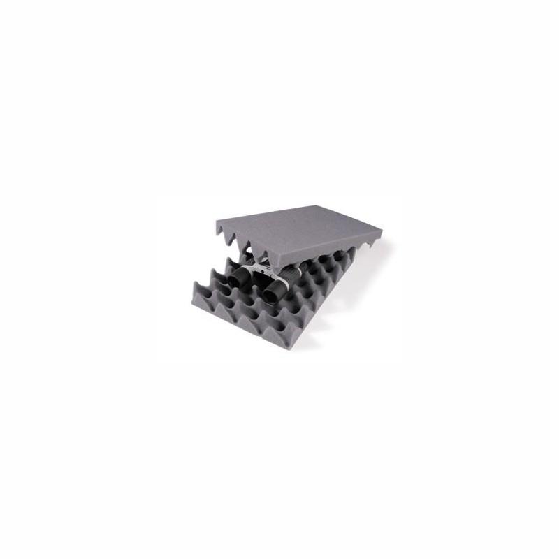 Noppenschaum-Zuschnitte 297x210mm, A4, 40mm Stärke. grau.