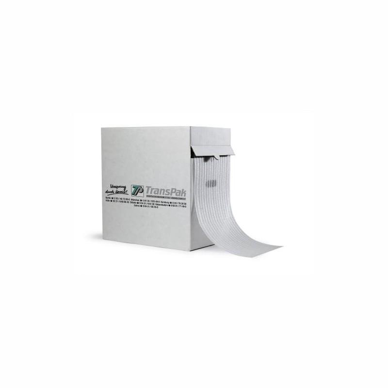 Schaumfolie im Spendekarton 285mm breitx100lfm. 1,5mm Stärke. Perforation je 300mm