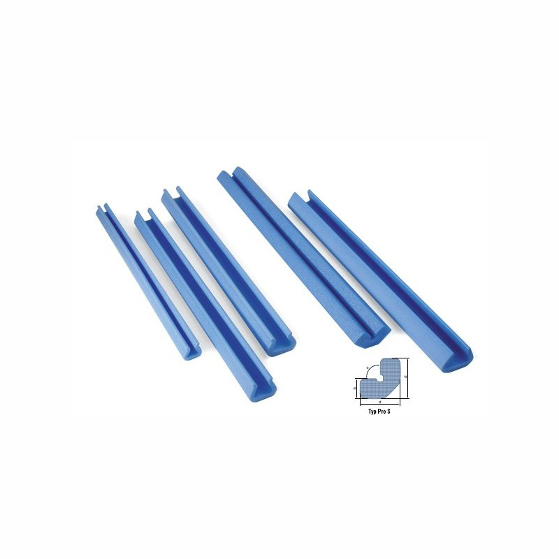 Schaumpolsterprofile 2000x60x60mm, 30mm Stärke. blau, PRO S Schaumprofil.