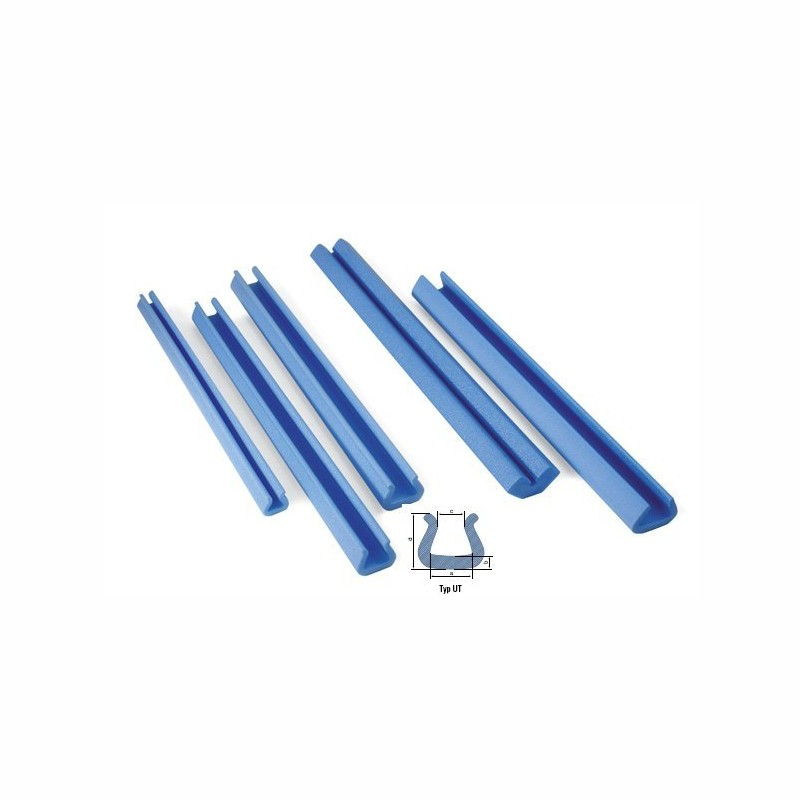 Schaumpolsterprofile 2000x35x24mm, 9mm Stärke. blau, UT 15 Schaumprofil.
