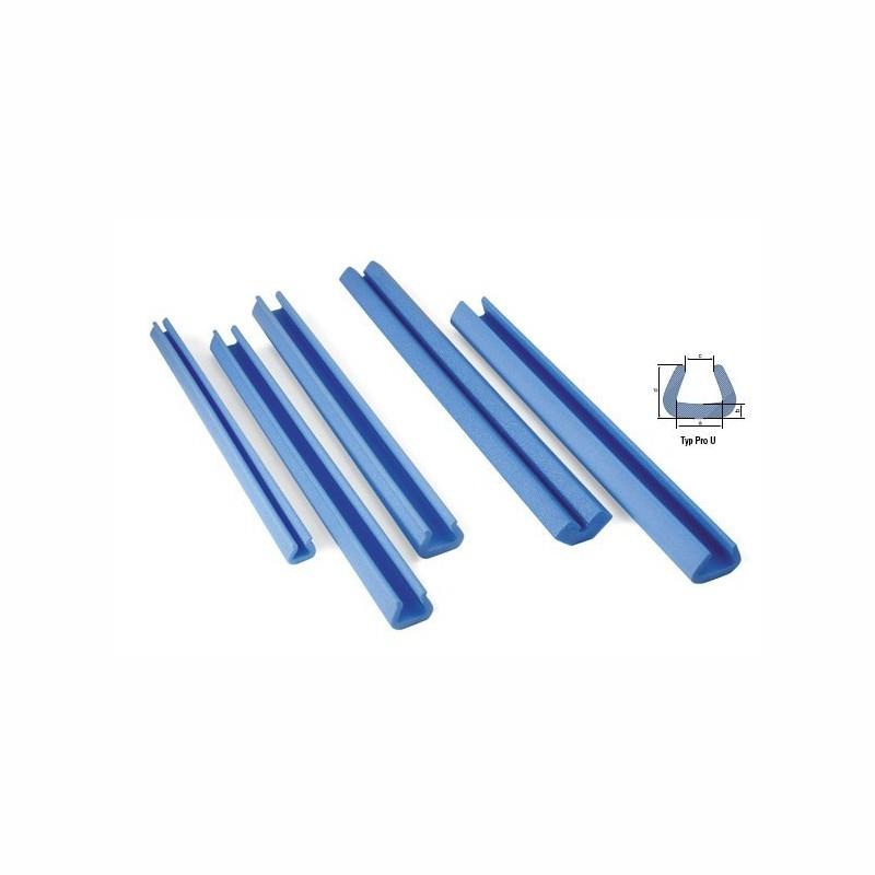 Schaumpolsterprofile 2000x60x50mm, 11mm Stärke. blau, PRO U Schaumprofil.