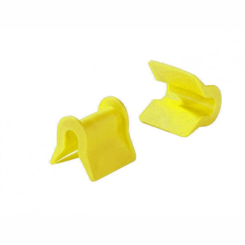 PE-Kantenschutzwinkel 64x30x55x35mm. gelb, zur Fasssicherung. 1 Satz = 4 St.