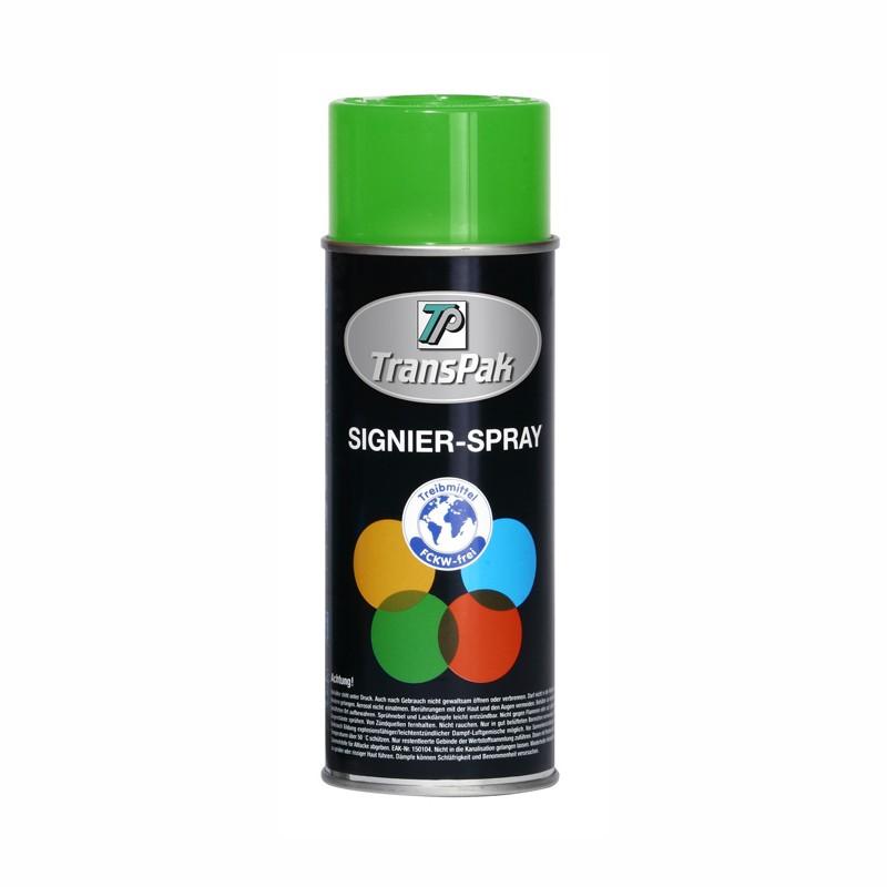 Signierspray grün, Inhalt  400ml. RAL 6024.