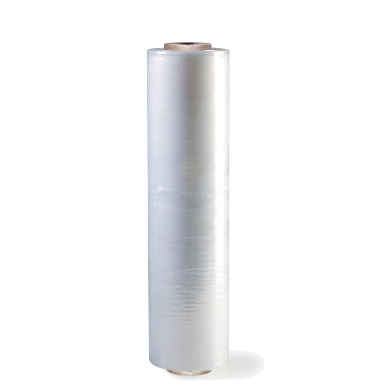 Handstretchfolie 450mm breitx300lfm, 20µ. transparent. ca. 2,8kg Rollengewicht