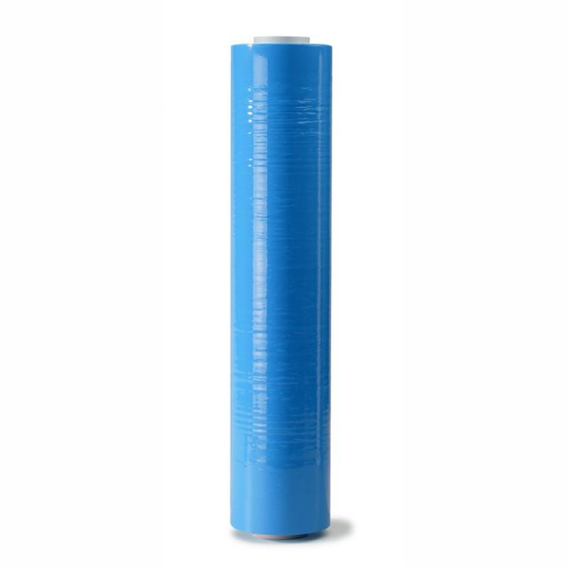 Handstretchfolie blau 500mm breitx260lfm, 23µ. ca. 3,20 KG Rollengewicht.