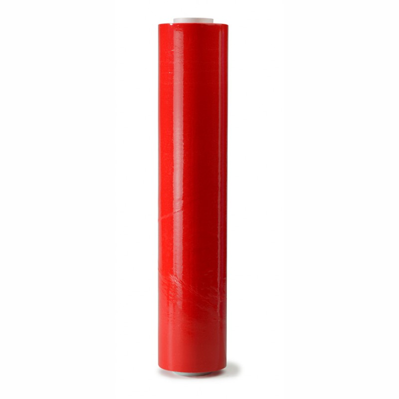 Handstretchfolie rot 500mm breitx260lfm, 23µ. ca. 3,20 KG Rollengewicht.