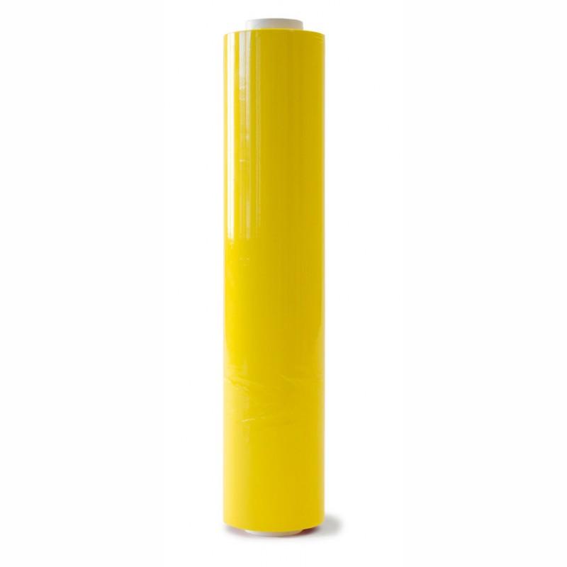 Handstretchfolie gelb 500mm breitx260lfm, 23µ. ca. 3,20 KG Rollengewicht.